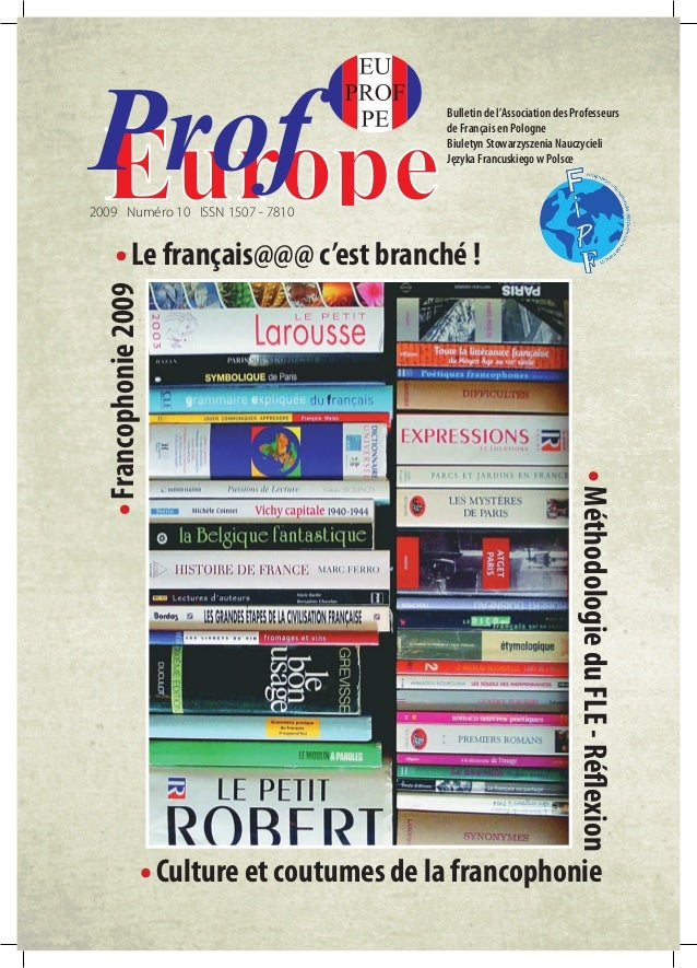 Bulletin de l'Association des Professeurs  de Français en Pologne  Biuletyn Stowarzyszenia Nauczycieli  Języka Francuskieg...