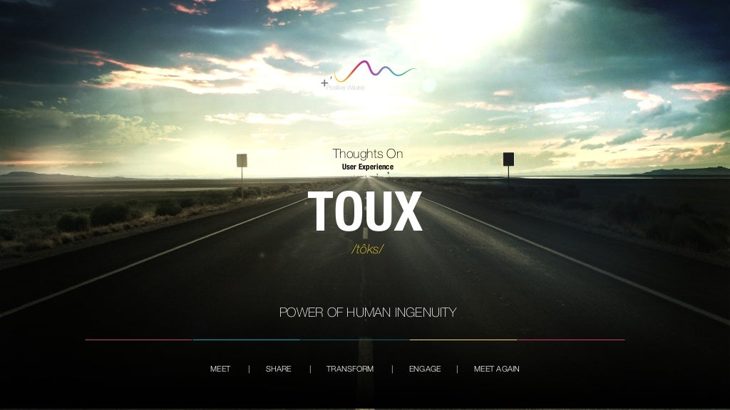 TOUX - Thoughts on User Experience - Framework