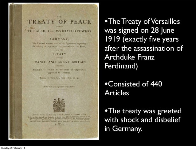 Examine How the Paris Peace Settlements (1919-23) Established a New International Order.