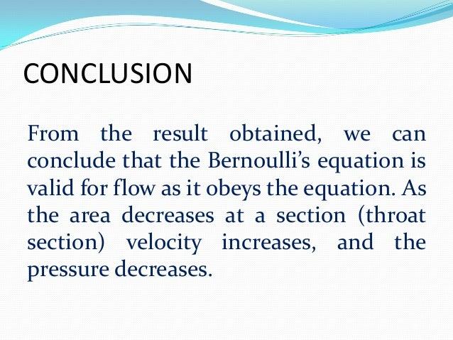 Bernoulli's Principle Experiment