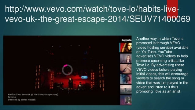 Tove lo ~ analysis of website and advertising