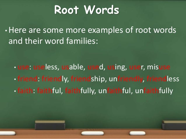 Root words examples choice image example of resume for student.