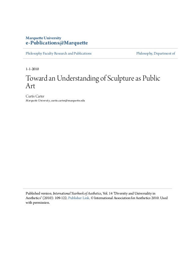 Marquette University e-Publications@Marquette Philosophy Faculty Research and Publications Philosophy, Department of 1-1-2...