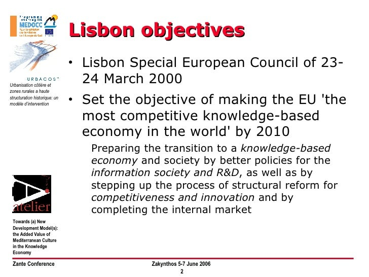 Towards New Development Models: The Added Value of Mediterranean Culture in the Knowledge Economy Slide 2