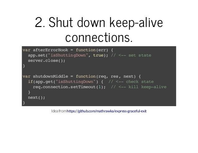 "2.Shutdownkeep-alive connections. vratrroHo =fnto(r){ a feErrok uciner apst""shtigon,tu) / <-stsae p.e(iSutnDw"" re; / - ..."