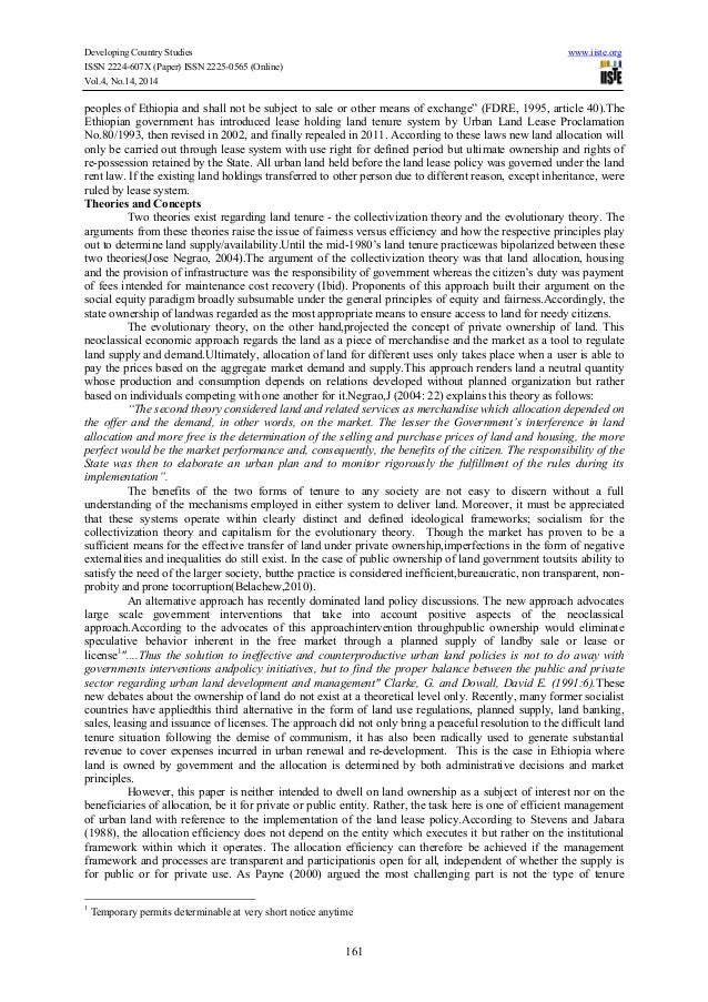 Towards an efficient implementation of the land lease policy of ethiopia Slide 3