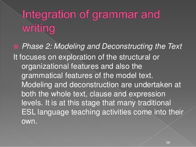 text-based approach to teaching writing and grammar