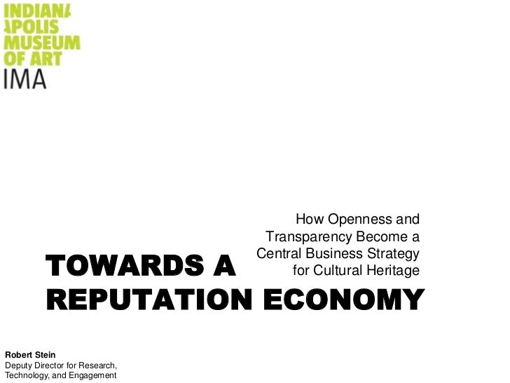 How Openness and                                 Transparency Become a          TOWARDS A                                C...