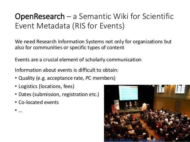 Structured event meta data Semantic (typed) links inside call text