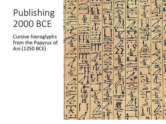 Publishing 2000 BCE Cursive hieroglyphs from the Papyrus of Ani (1250 BCE)