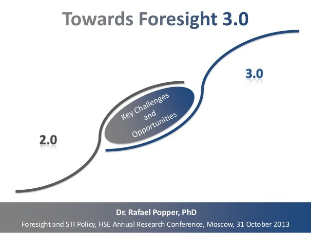 Dr. Rafael Popper, PhD Foresight and STI Policy, HSE Annual Research Conference, Moscow, 31 October 2013
