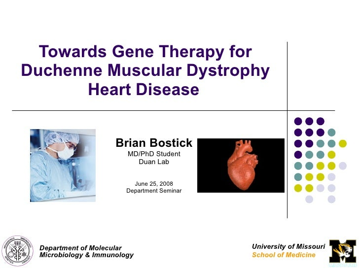 Towards Gene Therapy For Duchenne Muscular Dystrophy Heart Disease