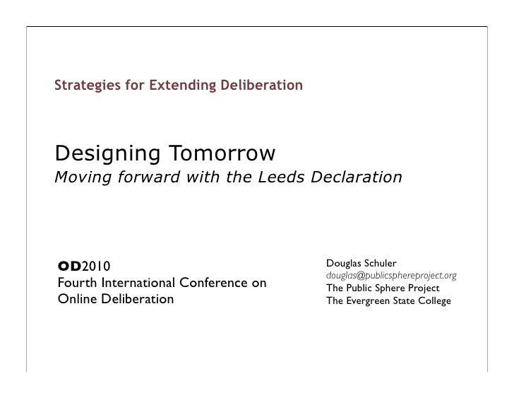 Towards Leeds Declaration