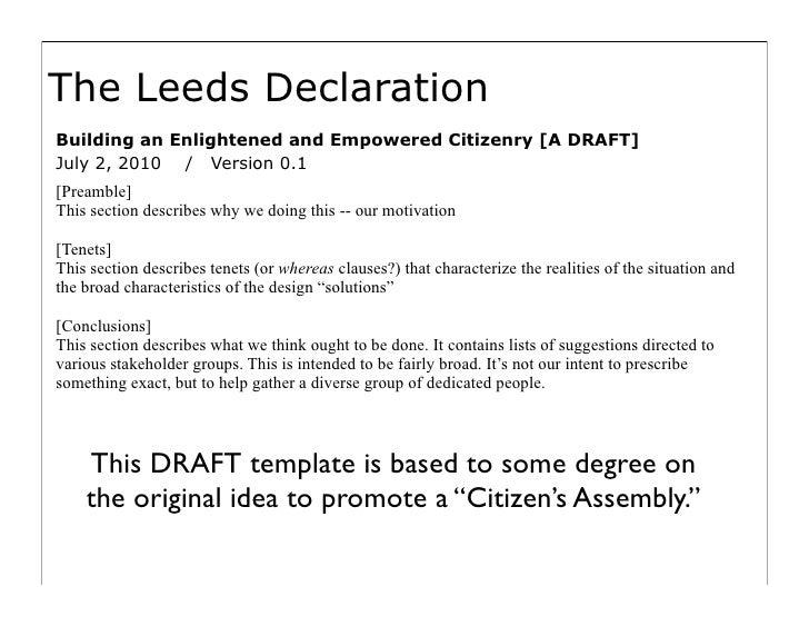Towards Leeds Declaration Slide 3