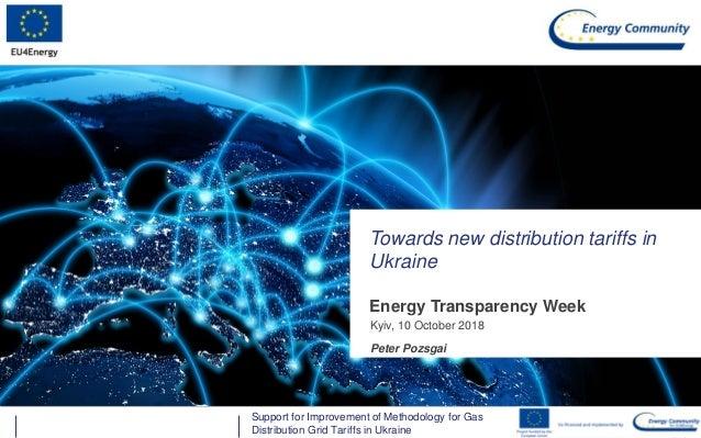 Energy Community SecretariatSupport for Improvement of Methodology for Gas Distribution Grid Tariffs in Ukraine Energy Tra...