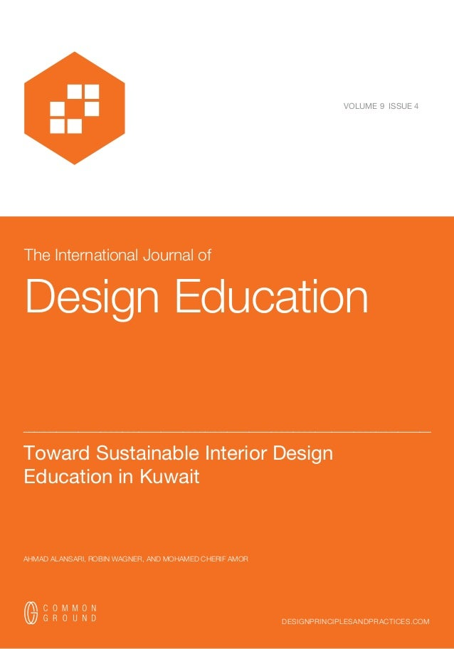 Toward sustainable interior design education in kuwait for Interior design requirements of education