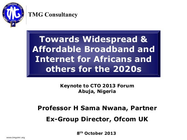 Towards Widespread & Affordable Broadband and Internet for Africans and Others for the 2020s