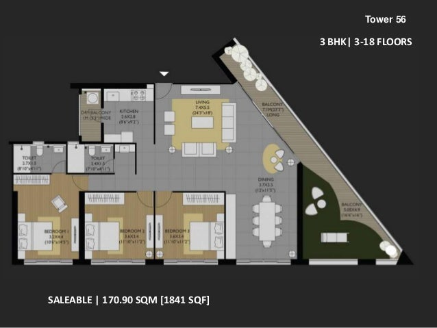 Amanora Future Towers 56 floor plans