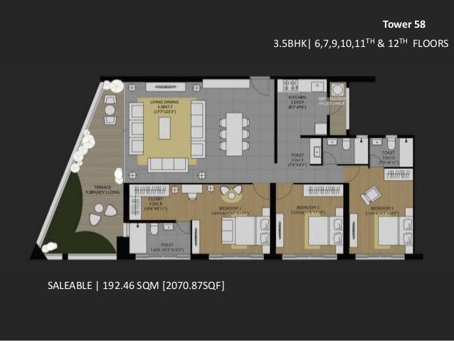 Amanora Future Towers 58 floor plans