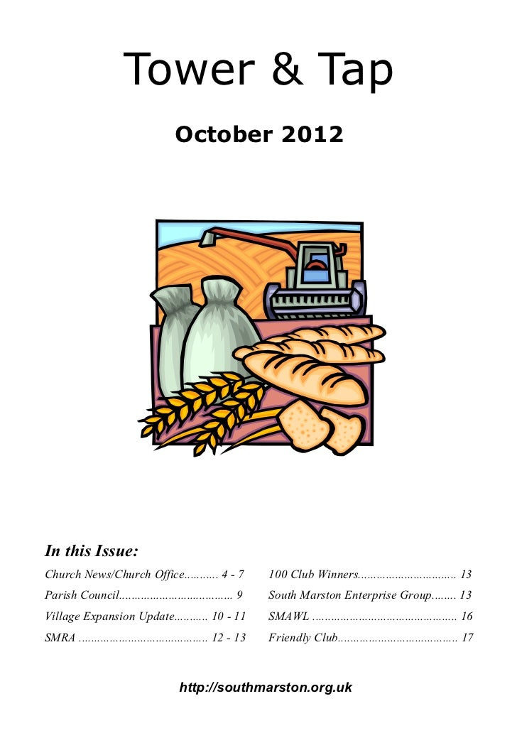 Tower & Tap                                   October 2012In this Issue:Church News/Church Office........... 4 - 7        ...
