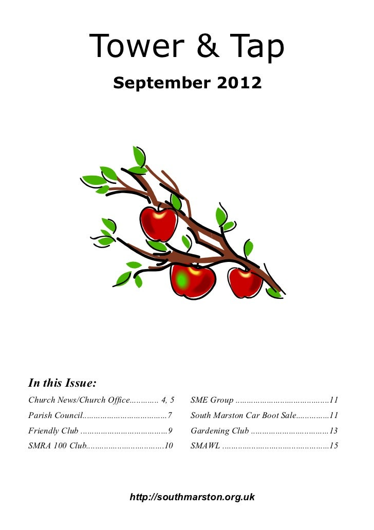 Tower & Tap                               September 2012In this Issue:Church News/Church Office............. 4, 5         ...