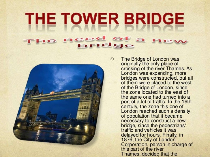 Tower bridge and picadilly circus Slide 2