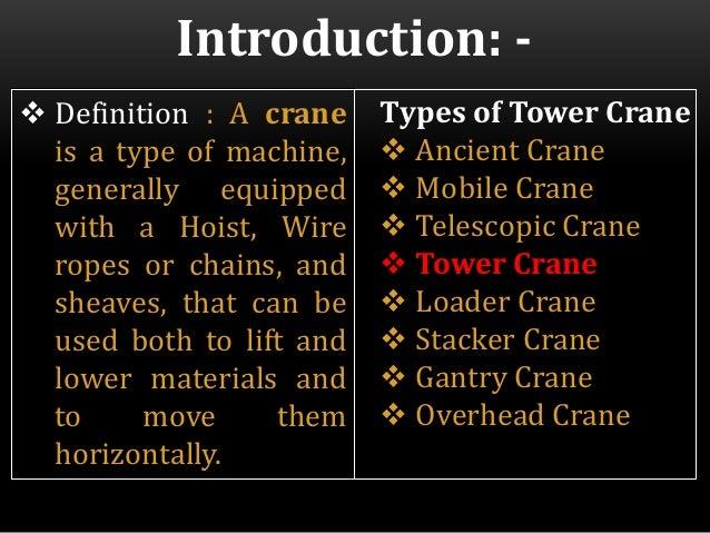 Utilization of Building Cranes