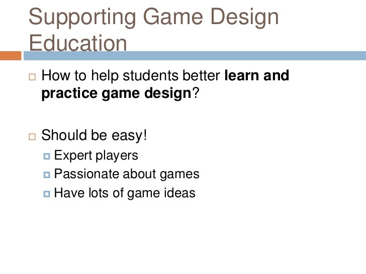 Tower Defense Generator: A Tool for Supporting Game Design Education