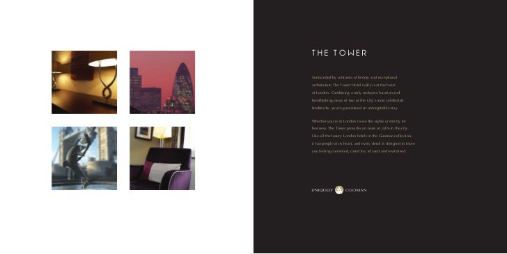 Tower hotel brochure