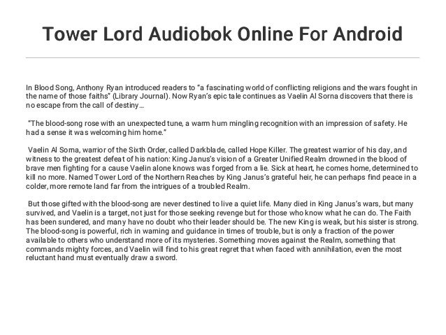 Tower Lord Audiobok Online For Android