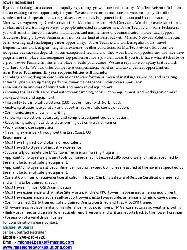installation technician job description