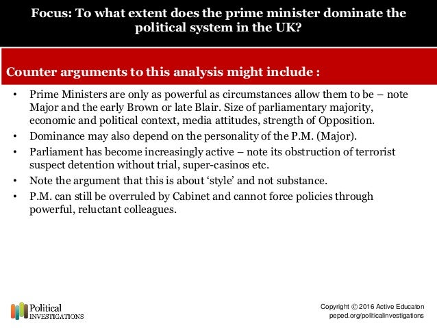 """To what extent have UK Prime ministers become """"presidential""""?"""