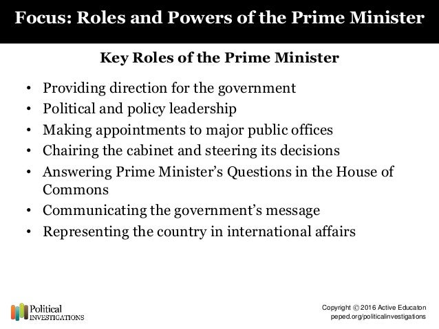 to what extent have prime ministers A thesis submitted in partial fulfillment of the requirements for the degree in doctor of  and how, have the institutional bases of prime ministerial power grown.