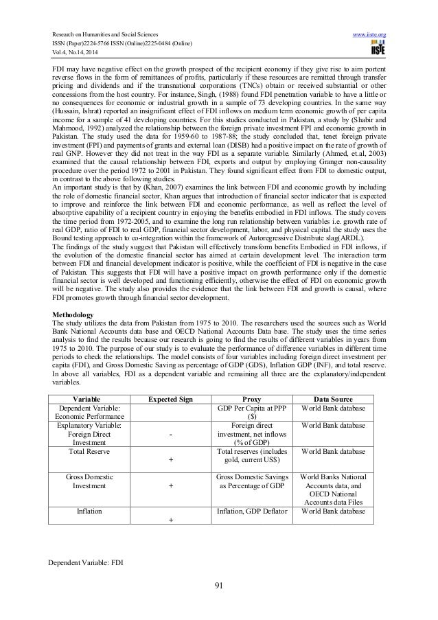 thesis on fdi in pakistan The reasoning behind the selection of this topic is the fact that pakistan foreign investment this thesis foreign direct investment in pakistan for.