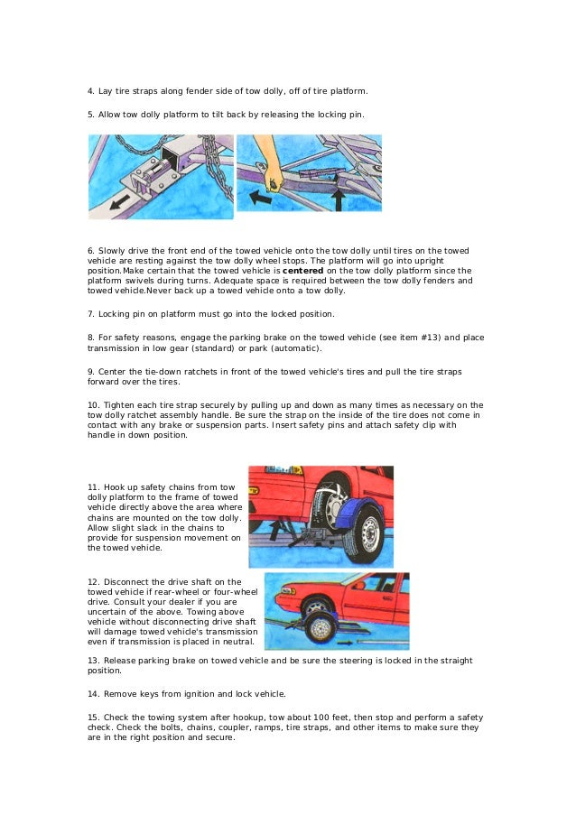 Towing dolly instructions 2 publicscrutiny Choice Image