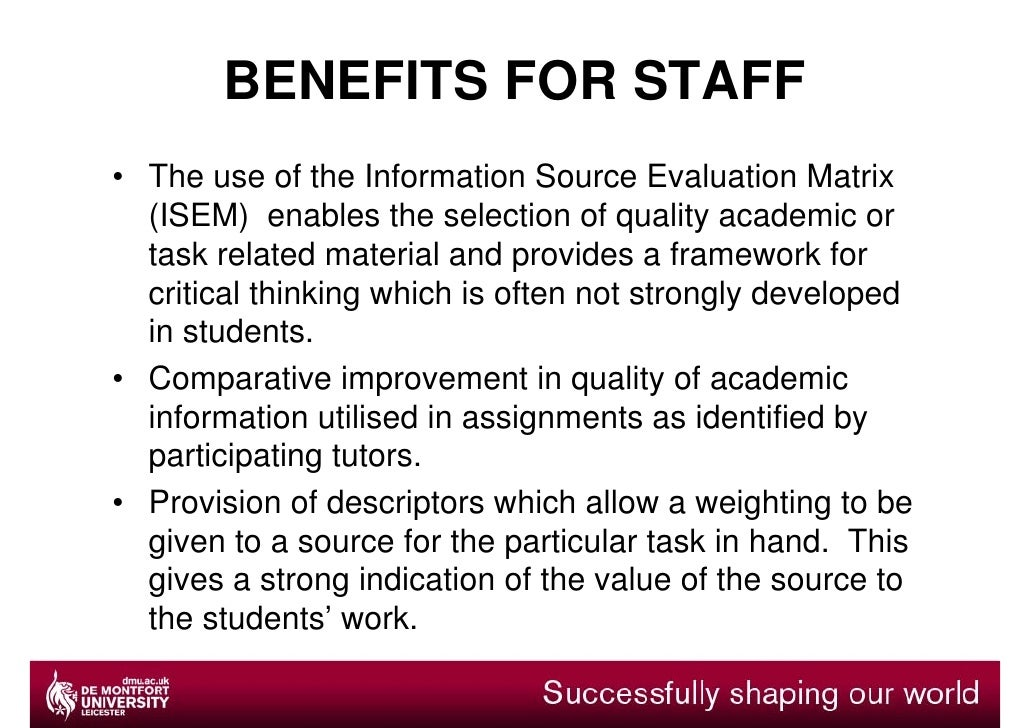simple example of source evaluation Cost benefit analysis gives you a simple (this is a flaw in many approaches to financial evaluation) a simple example is used michele.