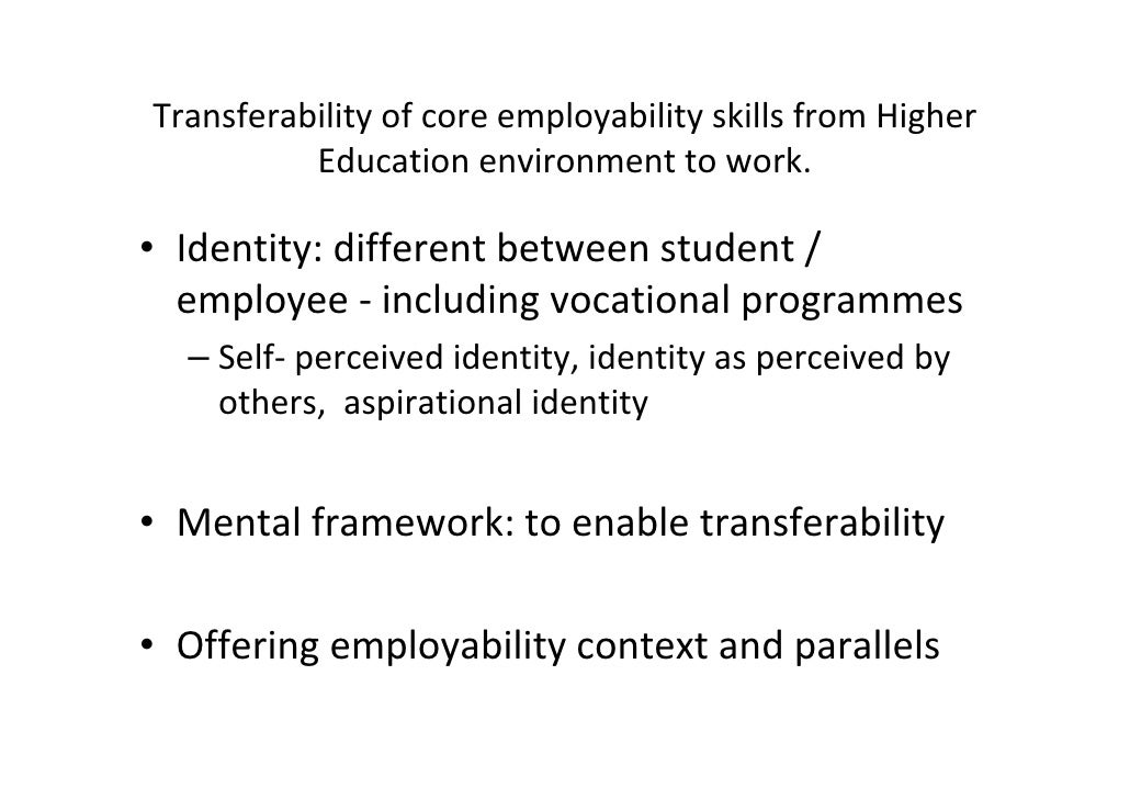 employability skills perceived by employers and 1 an examination of perceived employability skills between employers and college graduates a dissertation presented by kaye bernard mcgarry to.