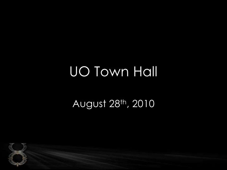 UO Town Hall<br />August 28th, 2010<br />