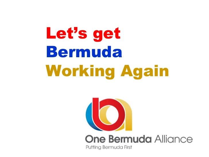 Let's get Bermuda   Working Again