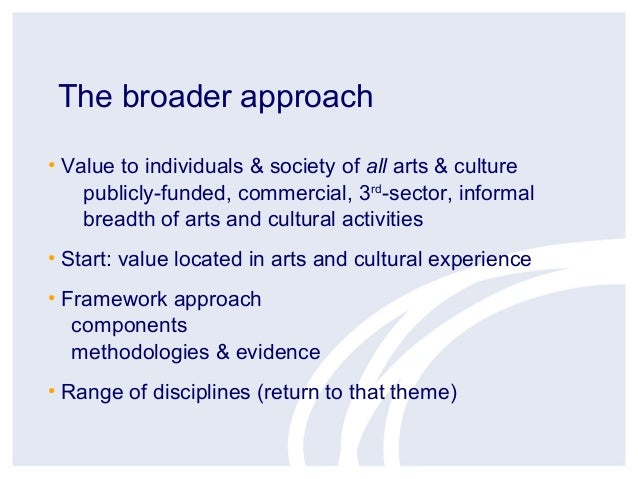 Cultural Value Project - Geoff Crossicks Town Meeting Presentation Slide 3