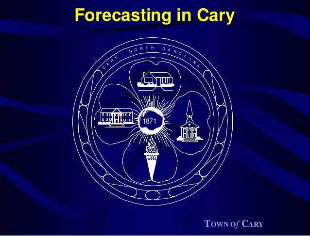 Forecasting in Cary                           R T   H   C A                       N O               R                     ...