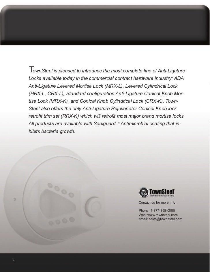 Townsteel Anti Ligature Cylindrical Knob Lockset