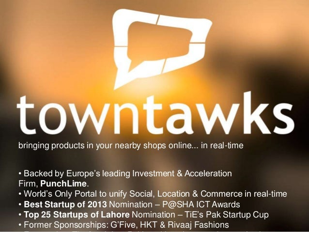 bringing products in your nearby shops online... in real-time • Backed by Europe's leading Investment & Acceleration Firm,...