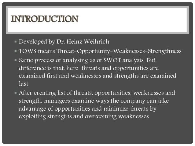 Tows matrix Slide 2
