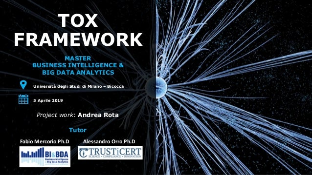 TOX FRAMEWORK MASTER BUSINESS INTELLIGENCE & BIG DATA ANALYTICS Università degli Studi di Milano – Bicocca 5 Aprile 2019 P...