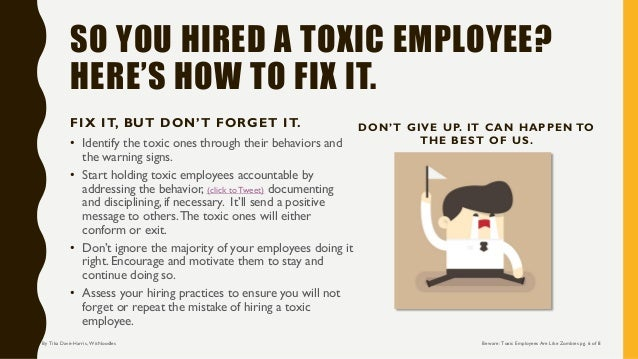 how to work with a toxic employee