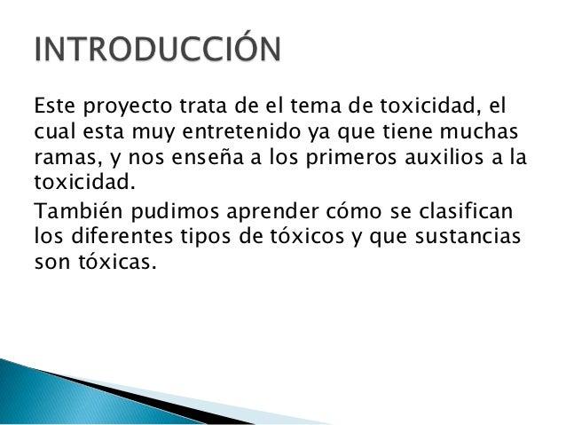 Toxicidad Slide 3