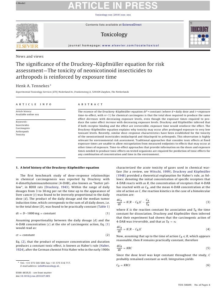 ARTICLE IN PRESS G Model                                                                          Toxicology xxx (2010) xx...