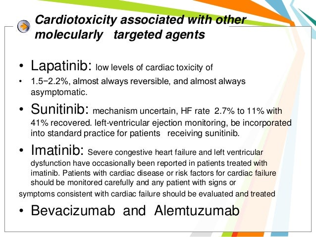 Cardiovascular toxicity of         molecularly targeted agents•   Hypertension,•   Ventricular Dysfunction•   Qtc Prolonga...