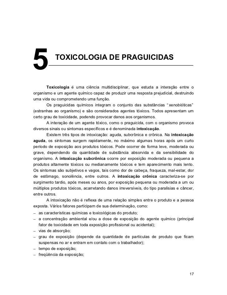 5           TOXICOLOGIA DE PRAGUICIDAS        __________________________________________________________        Toxicologi...